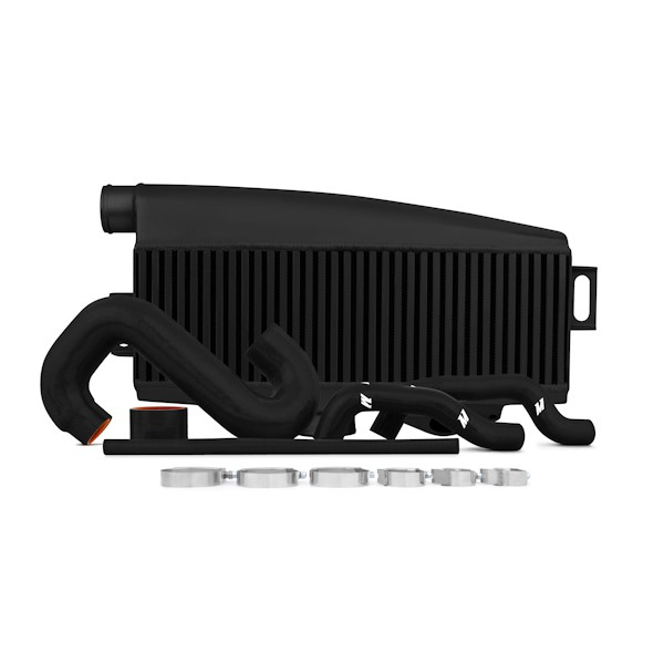 Subaru WRX/STI Performance Top-Mount Intercooler Kit, Black Intercooler, Black Silicone, 2002-2007
