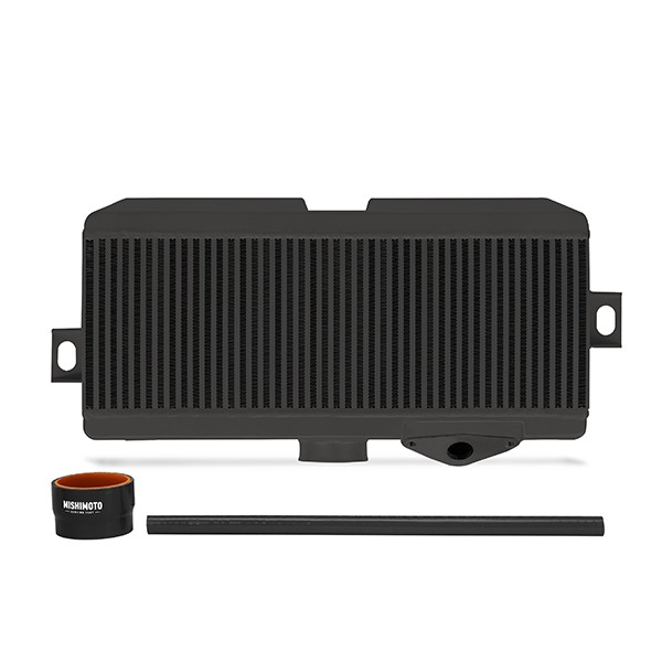Subaru WRX STI Performance Top-Mount Intercooler Kit, Black Cooler, Black Hoses, 2008-2014