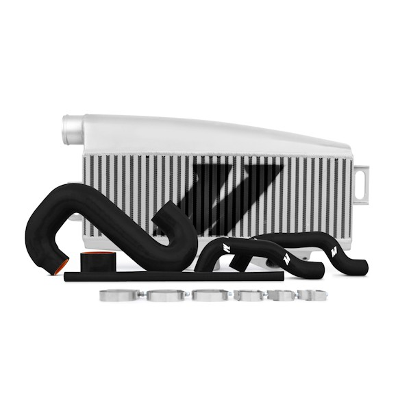 Subaru WRX/STI Performance Top-Mount Intercooler Kit, Silver Intercooler, Black Silicone, 2002-2007