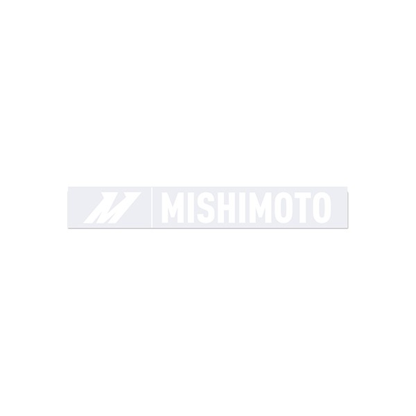 Small Silver Mishimoto Decal, 1.5 x 10