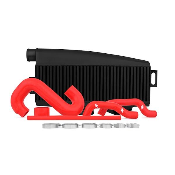 Subaru WRX/STI Performance Top-Mount Intercooler Kit, Black Intercooler, Red Silicone, 2002-2007