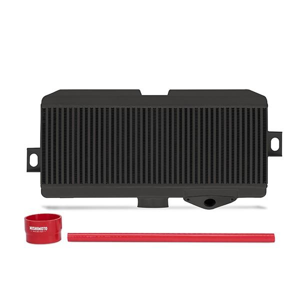 Subaru WRX STI Performance Top-Mount Intercooler Kit, Black Cooler, Red Hoses, 2008-2014