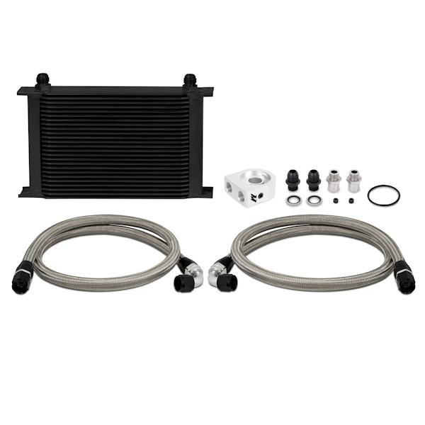 Universal Oil Cooler Kit, Black, 25 Row