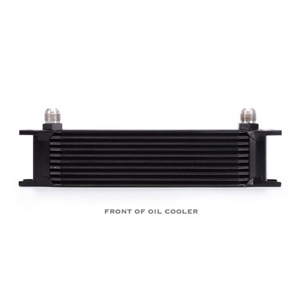 Universal 10 Row Oil Cooler Kit, Black