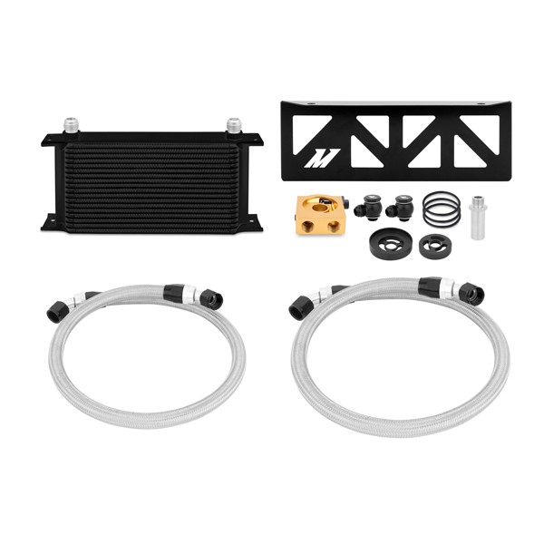 Subaru BRZ / Scion FR-S Thermostatic Oil Cooler Kit, Black, 2013+