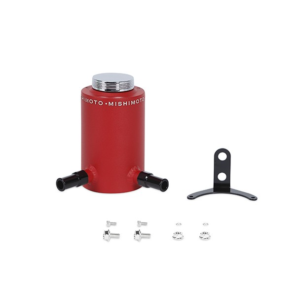 Aluminum Power Steering Reservoir Tank, Wrinkle Red