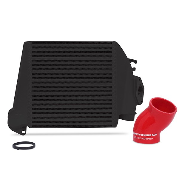 Subaru WRX 2008-2014 Top-Mount Intercooler2008-2015 Black Cooler, Red Hoses