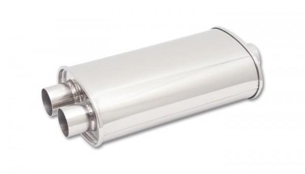 """Vibrant STREETPOWER Oval Vorschalldämpfer 2.5"""" 63mm Innendurchmesser"""