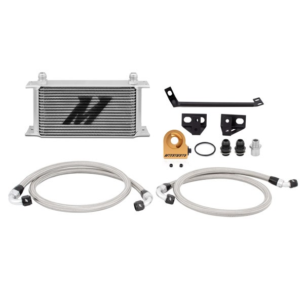 Ford Mustang EcoBoost Thermostatic Oil Cooler Kit, 2015+ Silver