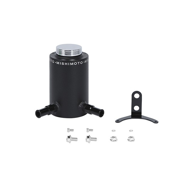 Aluminum Power Steering Reservoir Tank, Wrinkle Black
